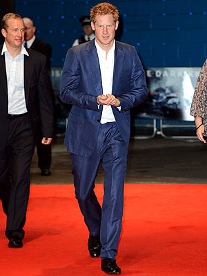 The Dark Knight Rises - Prince Harry Attends London Premiere