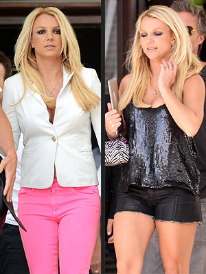 britney spears 300x400 Britney Spears's Latest 'X Factor' Look: Daisy Dukes, Sequins … and Zebra Print?