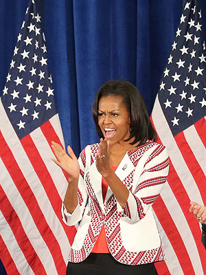 Michelle Obama Tells Team USA to Have Fun &#8211; &#39;But Also Win!&#39;| Summer Olympics 2012, Good Deeds, Michelle Obama