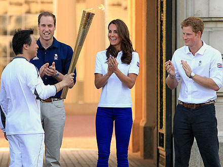 Summer Olympics 2012 Kick-Off with William, Kate and Harry