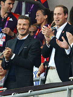 David Beckham, Prince William Cheer On British Olympic Soccer Team | David Beckham, Prince William