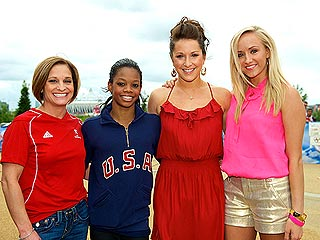 Say 'Gold!' Gabby Douglas Poses with Past All-Around Champs