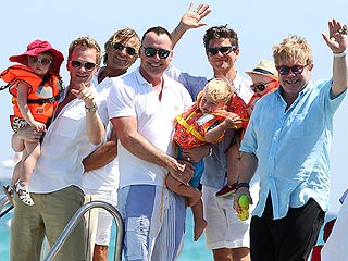 PHOTO: Elton John, Neil Patrick Harris Show Off Kids in Saint-Tropez