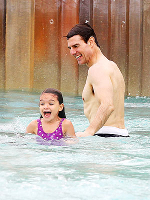 Tom Cruise and Suri Catch the Waves at Disney's Typhoon Lagoon