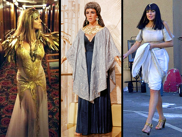 Britney Spears, Lindsay Lohan, Elizabeth Taylor Pose as Cleopatra