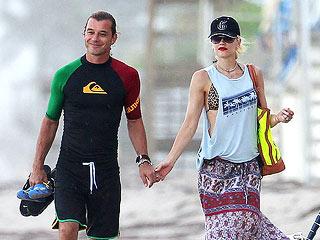 MULTIPLE PHOTOS! Gwen Stefani's Family Hits the Beach in Florida | Gavin Rossdale, Gwen Stefani