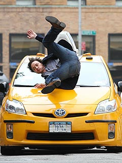 PHOTO: James McAvoy Flips Over Taxi in New York City | James McAvoy