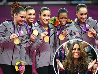 Kate Gives U.S. Gymnasts a Thrill