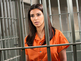 See Kim Kardashian Behind Bars