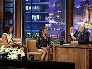 Michelle Obama Teases Gabby Douglas About Her Fast-Food Indulgence | Gabrielle Douglas, Jay Leno, Michelle Obama