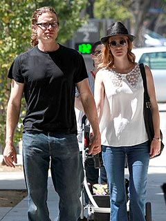 PHOTO: January Jones Holds Hands with Director Noah Miller | January Jones