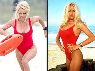 PHOTO: Pamela Anderson Slips Into Her Baywatch Bathing Suit Again!