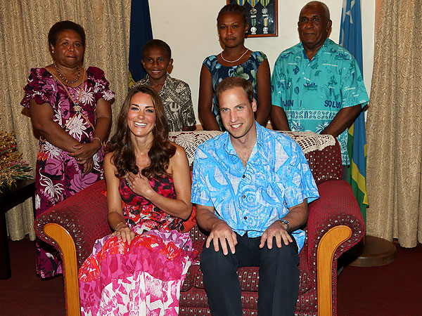 Clothing Swap! Kate Ditches Designer Duds for Gown from Solomon Islands | Prince William