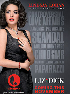 FIRST LOOK: Lindsay Lohan's Dripping in Diamonds in Liz & Dick Poster