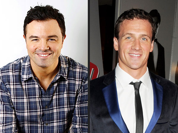 Seth MacFarlane Parodies Ryan Lochte on Saturday Night Live: 'Feels Weird to Be Dry'