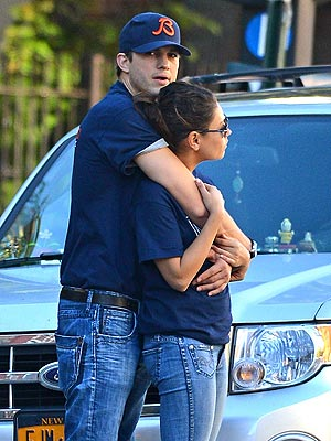 Ashton Kutcher & Mila Kunis Step Out After Divorce From Demi Moore