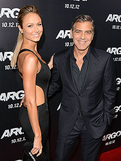 PHOTO: George & Stacy Hang Tight on Argo Red-Carpet | George Clooney, Stacy Keibler