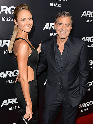 George Clooney, Stacy Keibler Together at Argo Premiere
