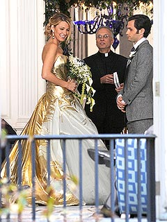Blake Lively Makes a Lovely TV Bride | Blake Lively, Penn Badgley
