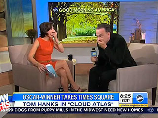 Oops! Tom Hanks Drops an F-Bomb on GMA