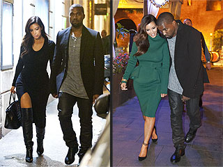 Kim Kardashian Changes Outfits During Dinner with Kanye in Rome | Kanye West, Kim Kardashian