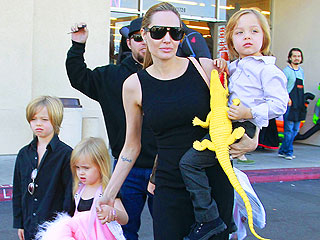 Angelina and the Kids Gear Up for Halloween
