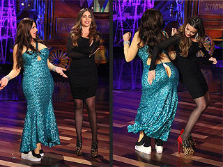 Ellen 'Cracks Up' in Costume as Sofia Vergara | Ellen DeGeneres, Sofia Vergara