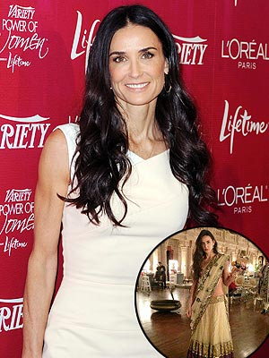 Demi Moore Turns 50, Celebrates in India