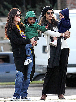 Sandra Bullock and Camila McConaughey Take Kids on a Play Date in New Orleans