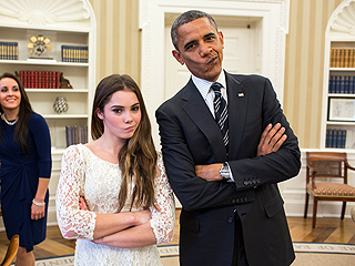 PHOTO: President Obama & McKayla Maroney Are Not Impressed
