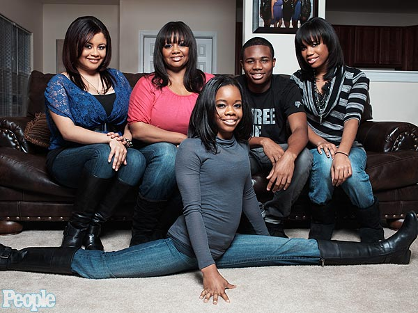Gabrielle Douglas and her family