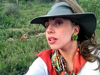PHOTO: Lady Gaga Poses with Wildlife on Safari | Lady Gaga