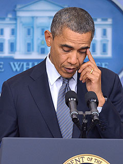 President Obama Cries, Expresses 'Overwhelming Grief' for Shooting Victims