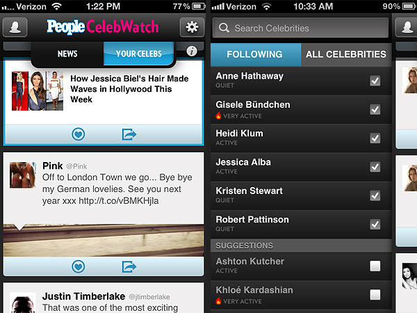 PEOPLE Announces Brand-New CelebWatch App!