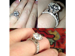 PHOTO: Hugh Hefner's Engagement Ring to Crystal Harris