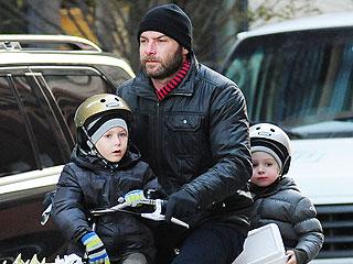 Liev Schreiber & 'Biker Boy' Sons Take on the Busy N.Y.C. Streets | Liev Schreiber