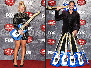 What the Heck Is Luke Bryan Doing with All These Guitars? | Luke Bryan, Miranda Lambert