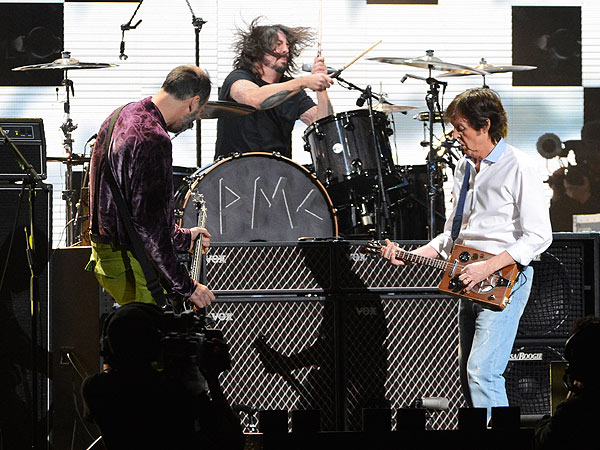 Paul McCartney Goes Grunge & 12-12-12 Concert for Sandy Relief&#39;s Top Five Moments| Bon Jovi, Coldplay, Nirvana, R.E.M., The Rolling Stones, Good Deeds, Music News, Alicia Keys, Bruce Springsteen, Chris Martin, Dave Grohl, Jon Bon Jovi, Kanye West, Kim Kardashian, Krist Novoselic, Michael Stipe, Mick Jagger
