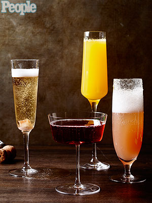 New Year's Champagne Cocktail Recipes| Celebrity Diners Club