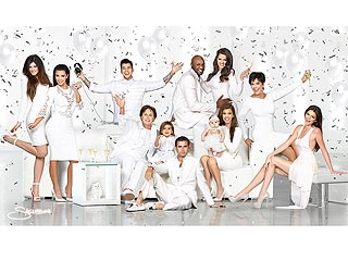 It's a White Christmas (Card) for the Kardashians! | Khloe Kardashian, Kim Kardashian, Kourtney Kardashian, Lamar Odom, Rob Kardashian, Scott Disick