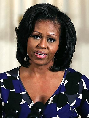Michelle Obama Tells Newtown the Nation Is 'Holding You in Our Hearts'| Connecticut School Shootings, Michelle Obama