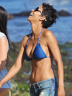 Halle Berry Searches Malibu for Seashells