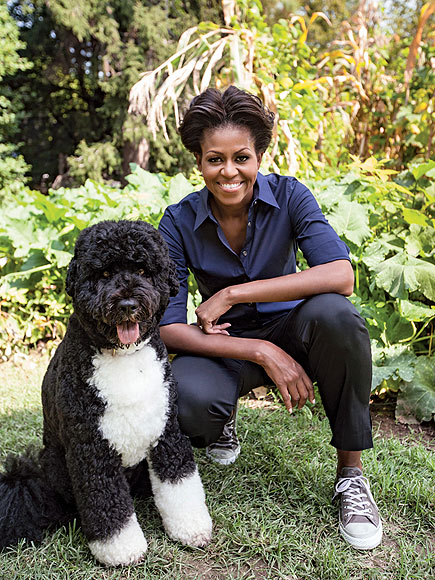 DOWN TO EARTH photo | Bo Obama, Michelle Obama