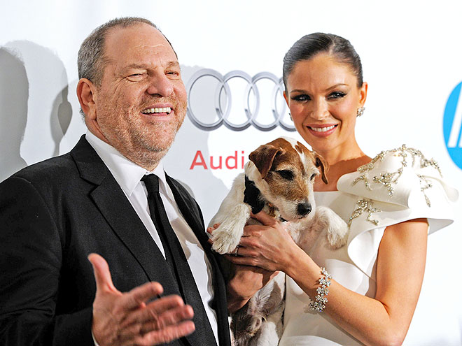 POWER PLAYER photo | Uggie, Georgina Chapman, Harvey Weinstein