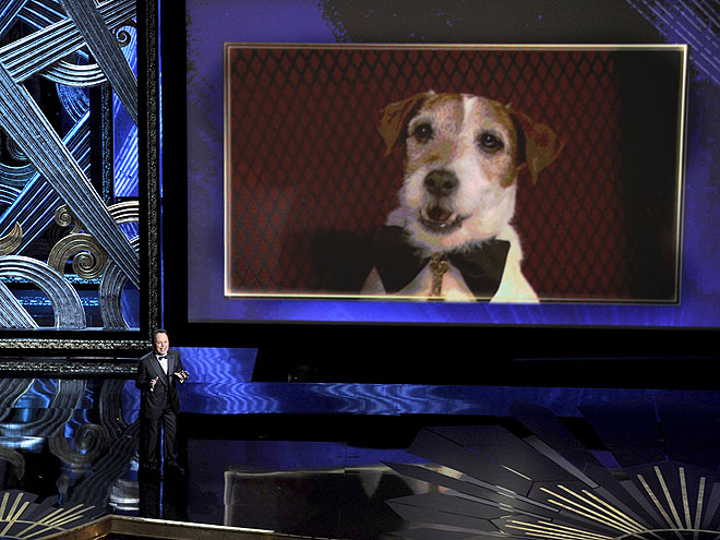 ON THE BIG SCREEN photo | Uggie, Billy Crystal