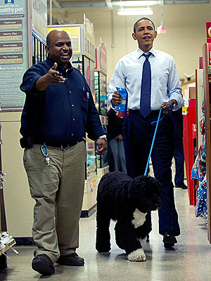 Obama Shops at PetSmart and Best Buy