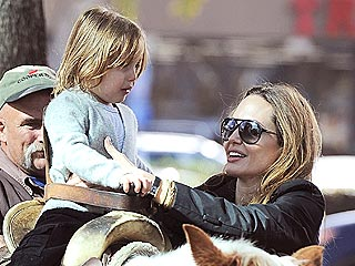 Angelina Jolie Takes Knox for a Pony Ride | Angelina Jolie