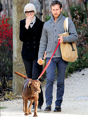 Anne Hathaway Walks Dog with Adam Shulman