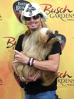 Cuddle Alert! Bret Michaels Hugs a Sloth | Bret Michaels