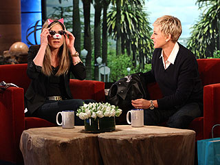 Jennifer Aniston Shares Puppy Photos with Ellen | Ellen DeGeneres, Jennifer Aniston
